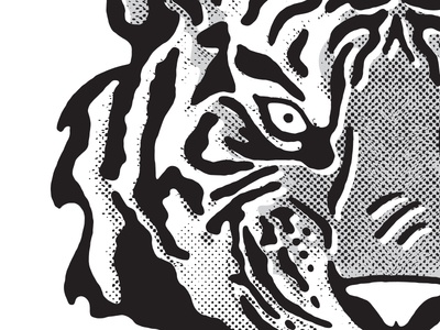 Tiger illustration bitmap tiger