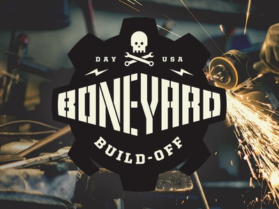 Boneyard Build-Off gear wrench grinder build tools skull dayton