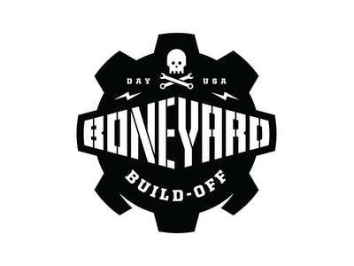 Boneyard Build-Off Logo wrench tools skull gear dayton build