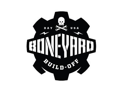 Boneyard Build-Off Logo wrench tools skull gear dayton build