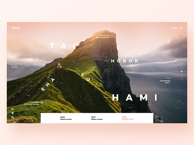 Off-road project game off-road mountain pink web ui