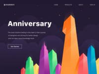 Celebrate this moment! anniversary logo paper design projection icon clouds blue pink color illustration red green wallpaper web ui