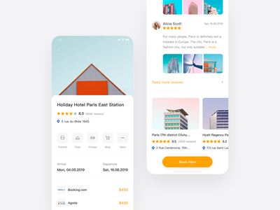 Hotel App Design Concept orange hotel app star sea rdd paper design projection icon clouds blue pink color red green wallpaper web ui