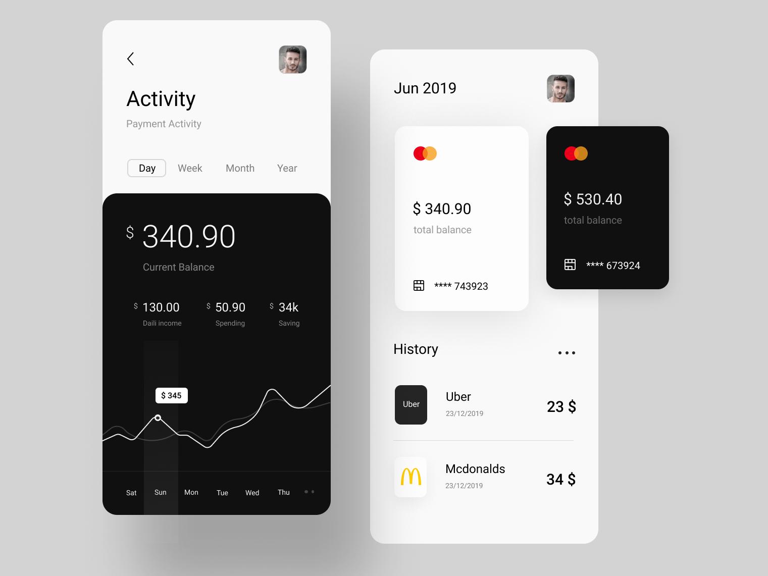 Financing App website minimal ui ux web app design