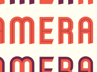 New typeface font typeface inline ribbon