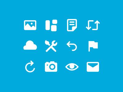 WordPress.com Icons wordpress mail eye camera flag cloud page image icon