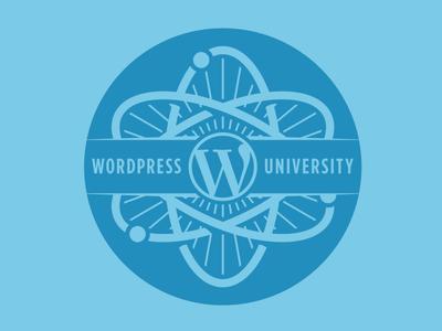 WordPress University wordpress university atom logo seal school teach