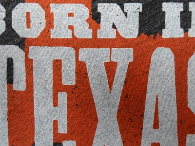 Born in Texas wordpress texas letterpress shirt