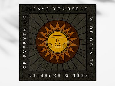 SUN poster square sol sun procreate design texture illustration