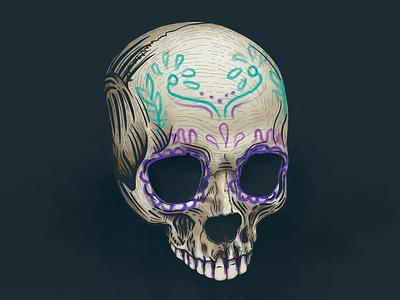 Sugar Skull sugar skull skull colorful mexico design cool texture culture illustration procreate art procreate