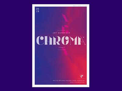 Chroma Neon Poster brand 2019 artmaterials neon colors layout design neon chroma poster