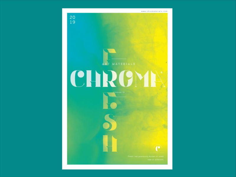 Chroma Fresh Poster layoutdesign neon yellow layout poster color chroma