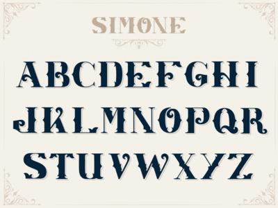 Simone Custom Font Design