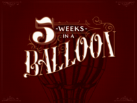 5 Weeks in a Balloon Book Cover Redesign
