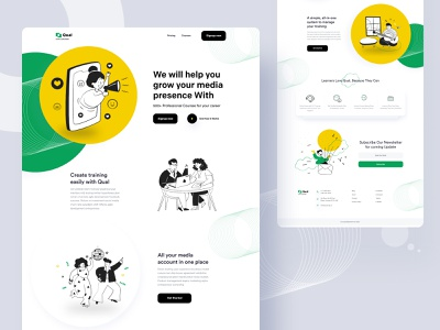 Online Training Course V-02 onboarding training online training online class online course online marketing online illustration website design product template e-commerce agency landing page minimal typography