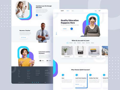 Online Education - Homepage online course course creative design homepage online platform online education education website education app education landing page app icon branding website product e-commerce agency minimal typography