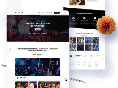 Campus - Redesign (Homepage) application trend 2020 redesign dashboad app design app vector illustration branding website product landing page e-commerce agency minimal typography