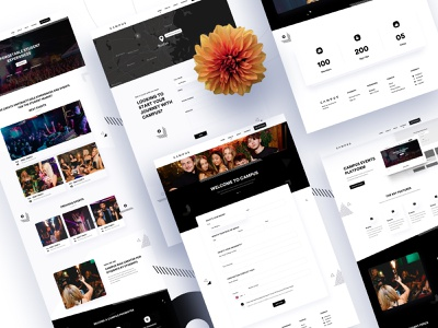Campus Redesign (Other pages) events dashboard design trend gradient app travel graphic design graphic illustration branding template product minimal landing page web e-commerce agency typography