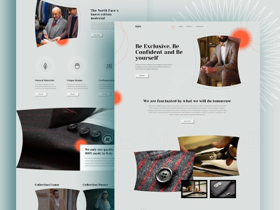 Ecommerce - Fashion Website Exploration icon design iconography uk product retail fashion design ux ui user experience user interface design visual design inspire minimal vector branding landing page product e-commerce typography