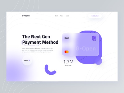 Payment - Header Exploration 🤘 payment app payment visual identity fintech banking bank card financial app financial finance money management interaction website vector branding illustration landing page product e-commerce minimal