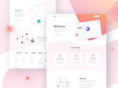 Skill Score typography banking product minimal skill score landing page design web ux ui