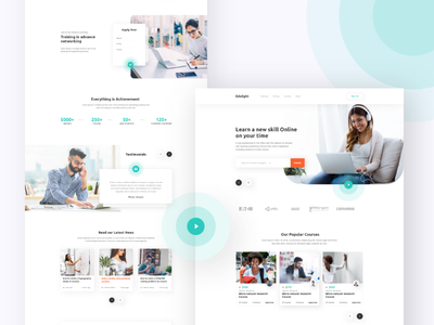Education Landing page education landing page ux design ui design awesome minimal typography online course courses education