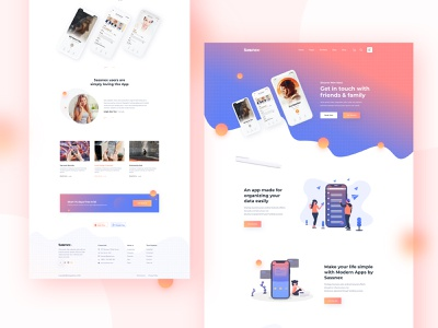 Sassnex-V1....... App Landing page web web design product e-commerce template illustration apphomepage app color agency website minimal typography creative sasslandingpage sass ux ui