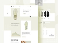 Sneakers- Home page concept-