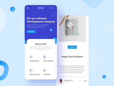 Responsive (Software Company) jobs freelancer remote agent agency software company blue mobile responsive apps mobile responsive minimal typography