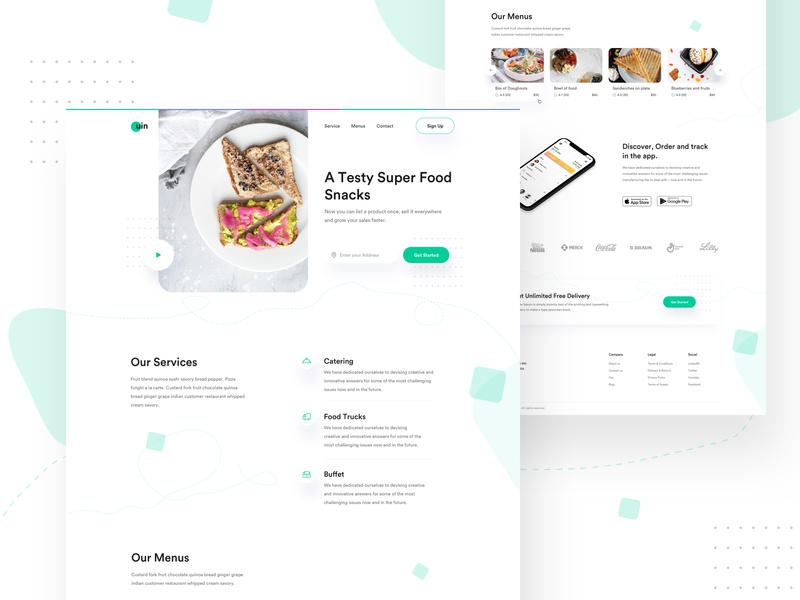 uin Food visual visualdesign web design landing page uinugget hotel food app restaurant app responsive restaurant food freelancer website design product e-commerce agency template minimal typography