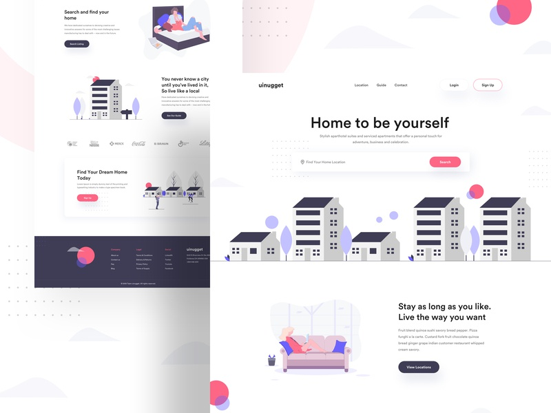 Home Rent. freelancer product corporate colorful shape startup gradient corporate design character 2019 trend icon vector website branding illustration agency e-commerce landing page minimal typography