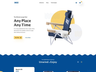 Shaze- Product uinugget responsive mobile apps agent uxdesign chairproduct chair creative  design freelancer website product branding illustration e-commerce agency landing page minimal typography