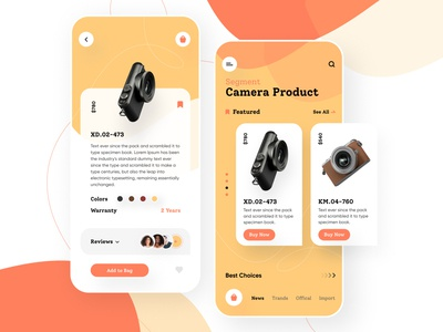 Camera Product camera product ecommerce design ecommerce app product camera app ios app colourful 2019 trand appdesigner application icon shape illustration vector app design responsive mobile app minimal typography