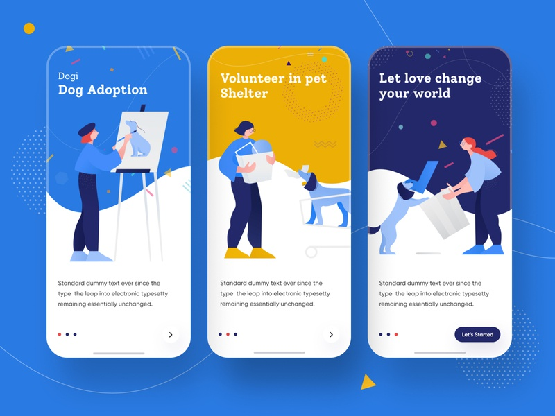Onboarding uidesign mobile card people ios 2019 trand tranding apps screen splash screen onboarding app icon branding e-commerce design agency minimal illustration vector typography