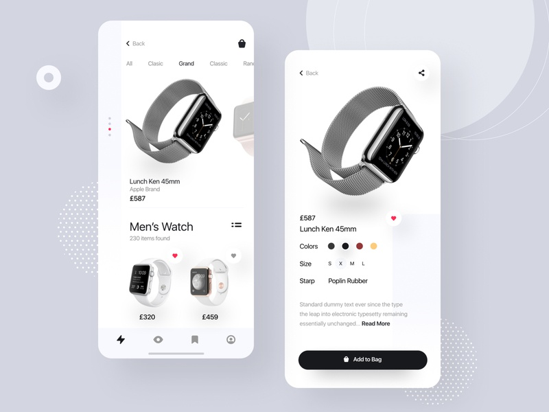 Watch App UI dashboard project management trend 2020 apple apple watch product app design product app minimal app watch app animation app icon branding vector illustration e-commerce agency minimal typography