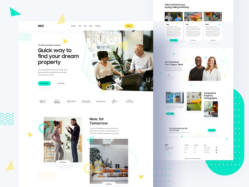 Property Homepage Exploration visualization visual design agent property property management real estate property shape trend 2020 creative freelancer branding illustration product e-commerce template agency landing page web minimal typography