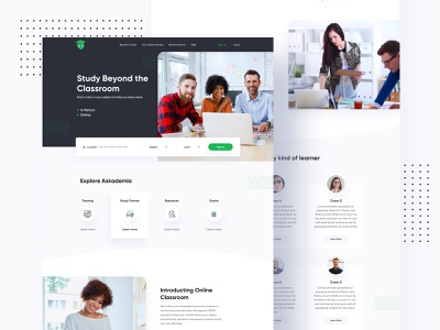 Askademia Redesign Concept trend 2020 user interface visual design restaurant redesign responsive education website education online learning learning platform app icon vector branding website product e-commerce agency landing page typography