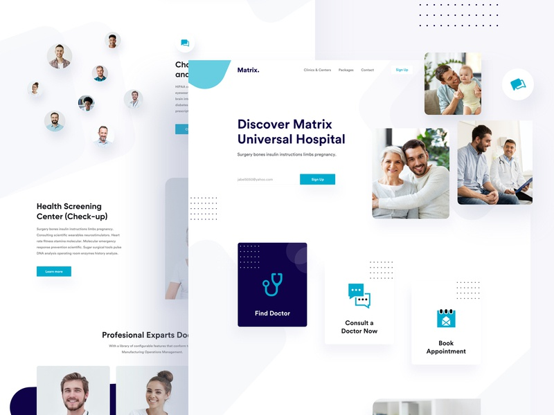 Matrix Medical website meditation ios medical care medical app medicine medical medicalwebsite branding illustration product design e-commerce template agency web minimal typography