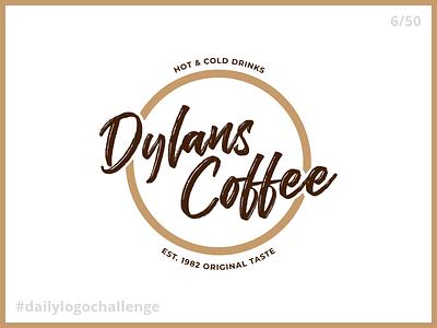 Daily Logo Challenge - Day 6: Coffee Shop coffee logo dylan dylans coffee coffee shop shop coffee daily logo challenge dailylogochallenge day 6 day6 6
