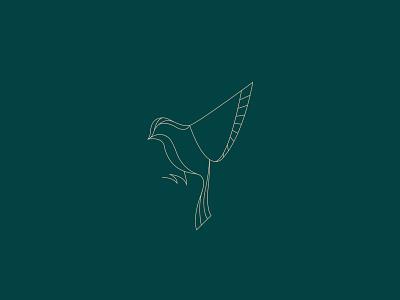 Put a bird on it vector linework sparrow bird line art illustration logo branding