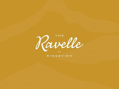 The Ravelle apartments residential nashville typography logo branding