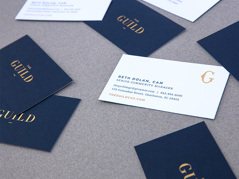 The Guild Business Cards by Jennifer Romano - Dribbble