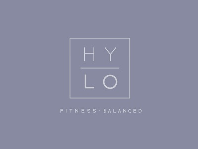 HYLO Branding balance fitness gym minimal typography logo branding