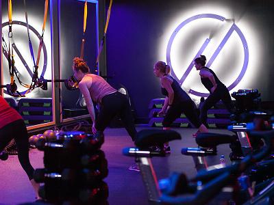 HYLO Branding workout signage balance fitness gym minimal typography logo branding