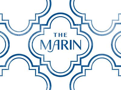 The Marin water florida tile terra cotta mediterranean community apartments logo typography branding