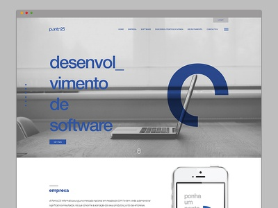 Ponto25 | Website Layout website layout design identity system logo branding bold clean single-page blue