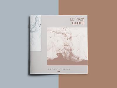 Le Pick Clops | Album Design swiss music booklet le pick clops modern layout design artwork cover cd album