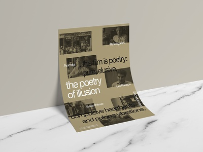 The Poetry of Illusion art modern exposed content grid contemporary layout graphic design documentary flyer poster