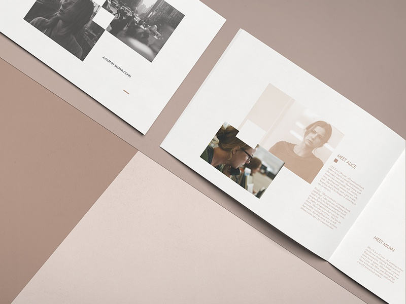 The Girl in the Book | Coffee table book art clean visual photography booklet coffee table book contemporary grid editorial design print layout