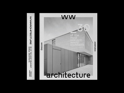 wwarch | Book Cover art direction black and white architecture type typography minimal design book book cover editorial publication layout print